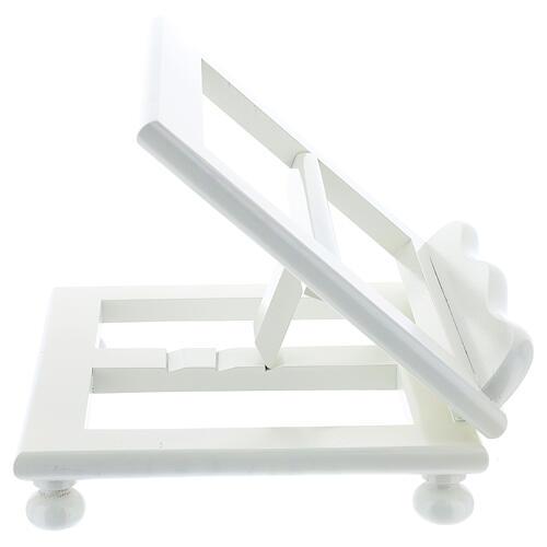 Leggio tavolo regolabile 30X35 cm bianco legno 7