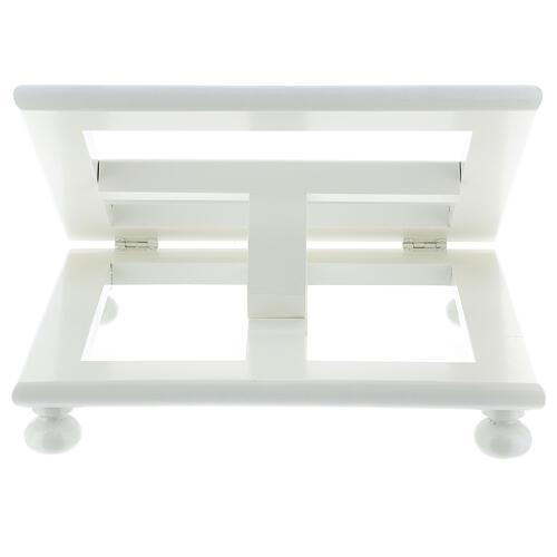 Leggio tavolo regolabile 30X35 cm bianco legno 8