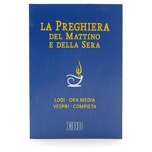 Prière du matin et du soir couverture bleue ITALIEN 1
