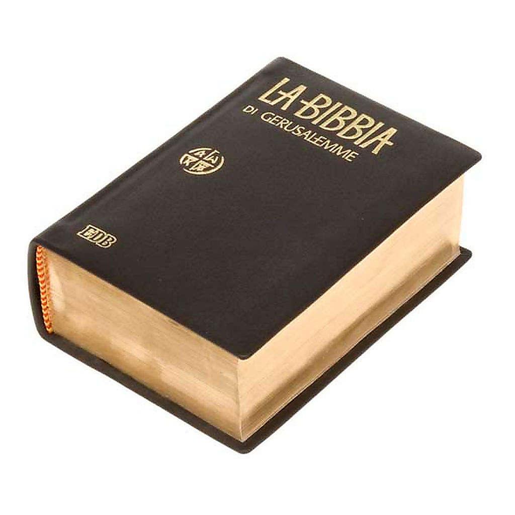 Biblia de Jerusalén pequeña piel y oro LENGUA ITALIANA 4