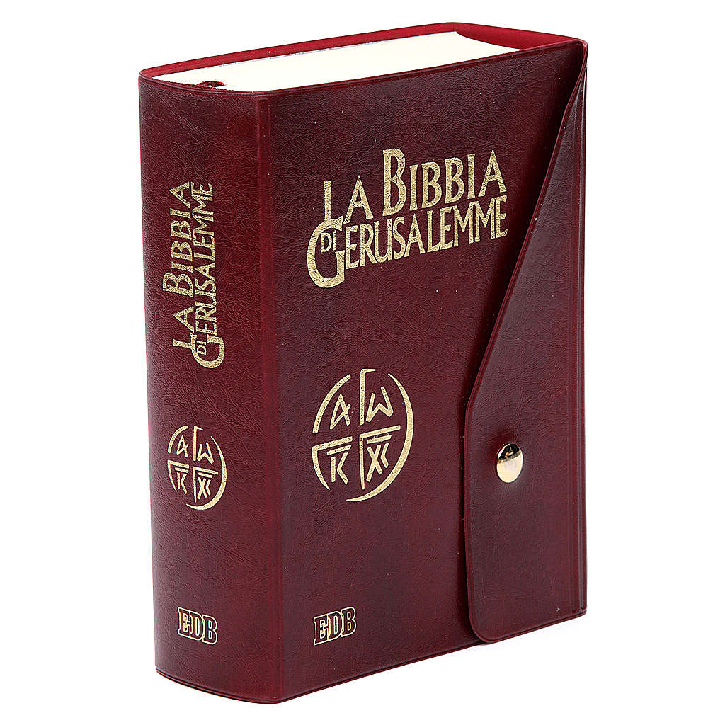 Bible Jérusalem, nouvelle trad., semi-cuir  bouton ITA 4