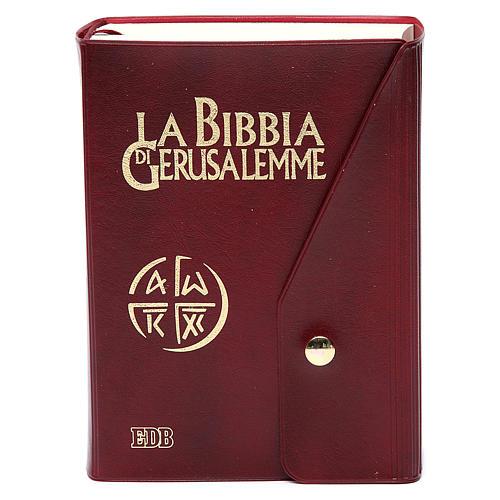 Bible Jérusalem, nouvelle trad., semi-cuir  bouton ITA 1