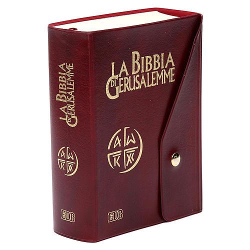 Bible Jérusalem, nouvelle trad., semi-cuir  bouton ITA 2
