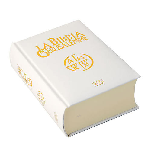 Bible of Jerusalem, 2009 edition, white leatherette cover 1
