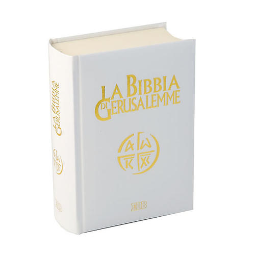 Bible of Jerusalem, 2009 edition, white leatherette cover 2