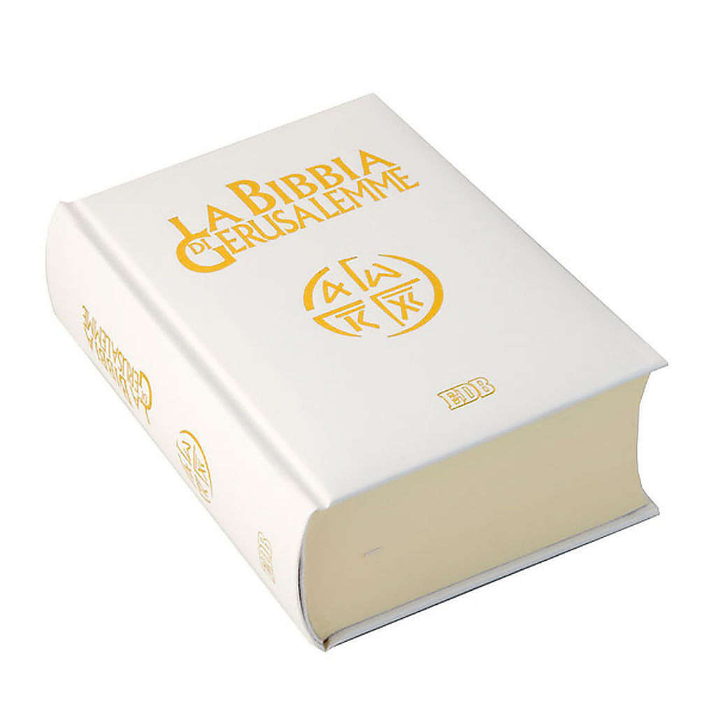 Bible Jérusalem, nouvelle trad., semi-cuir, blanche ITA 4