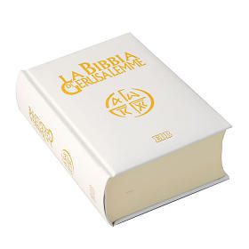 Bibles: Bible Jérusalem, nouvelle trad., semi-cuir, blanche ITA