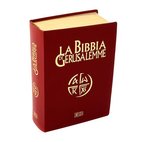 Bibbia Gerusalemme vera pelle bordo oro Nuova Traduzione 1