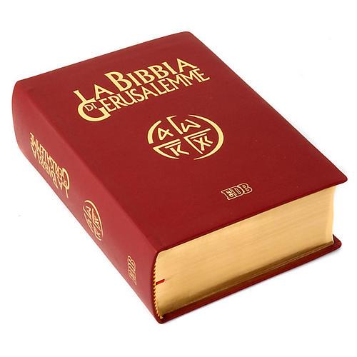 Bibbia Gerusalemme vera pelle bordo oro Nuova Traduzione 3