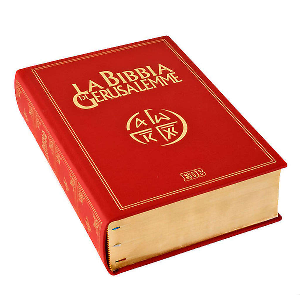 Bible Jérusalem, nouvelle trad., cuir, grande taille ITA 4