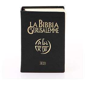 Jerusalem bible in beige leather pocket edition s1