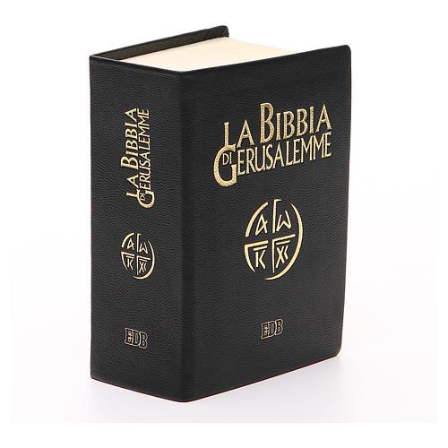 Jerusalem bible in beige leather pocket edition 2