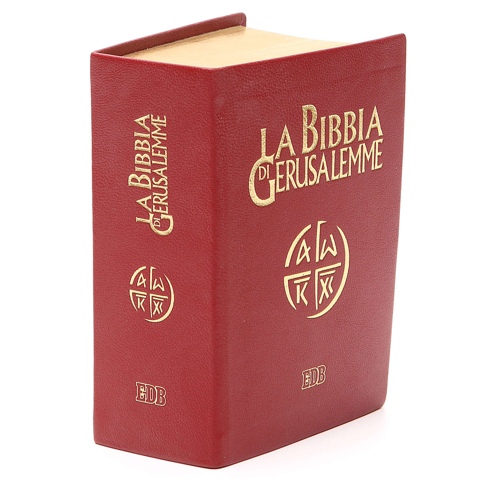 Bibbia di Gerusalemme pelle ed. tascabile rosso 4