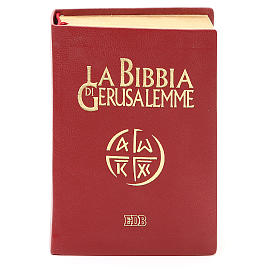 Bibbia di Gerusalemme pelle ed. tascabile rosso s1
