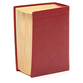 Bibbia di Gerusalemme pelle ed. tascabile rosso s3