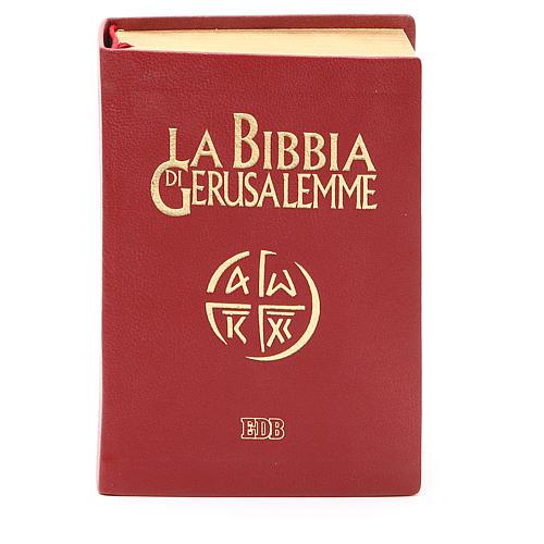 Bibbia di Gerusalemme pelle ed. tascabile rosso 1