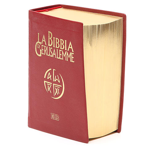 Bibbia di Gerusalemme pelle ed. tascabile rosso 2