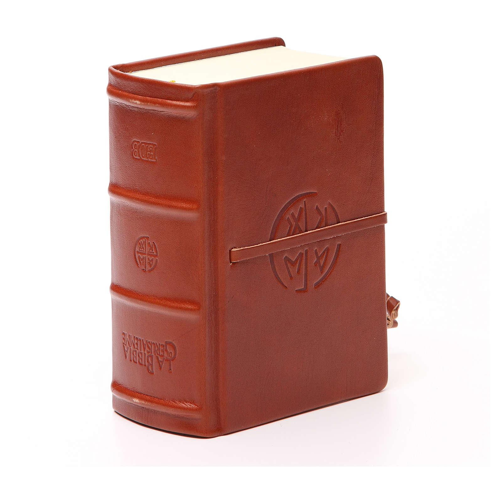 Bibbia di Gerusalemme pelle tascabile rilievi 4