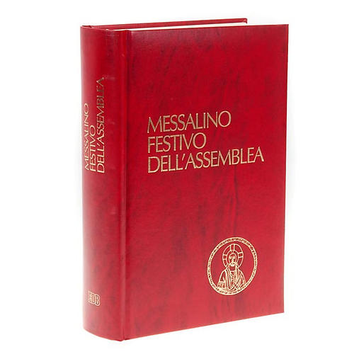 Messale festivo copertina rigida similpelle rossa 1