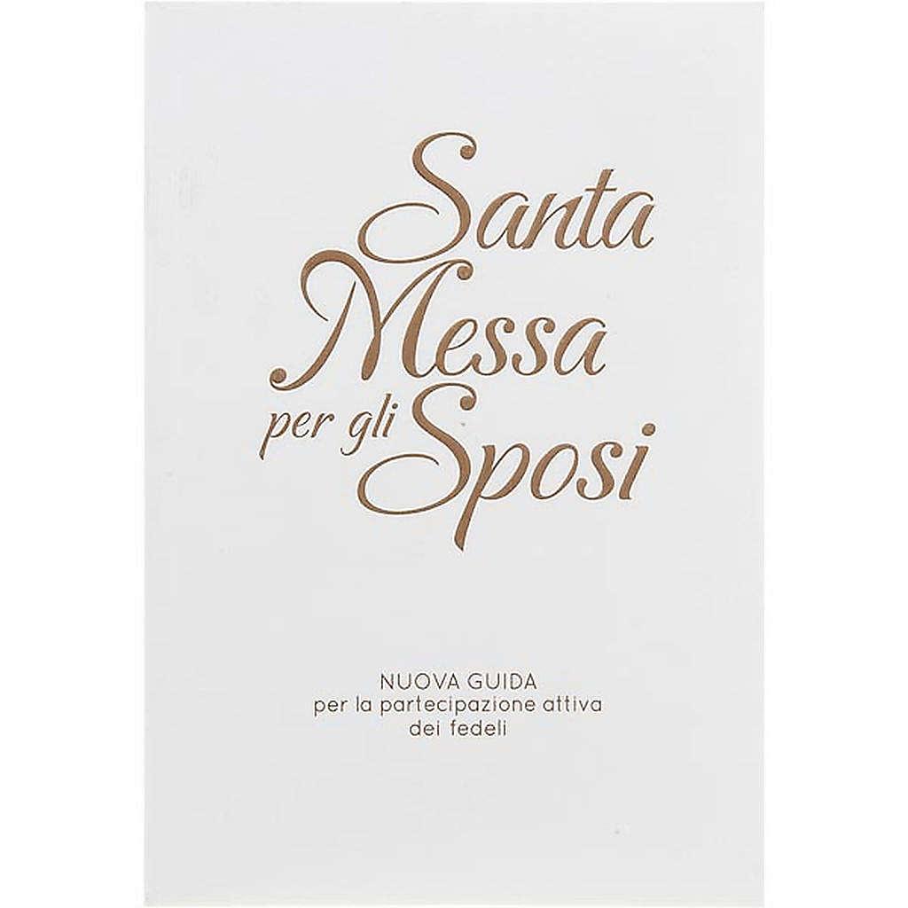 Santa messa per gli sposi copertina bianca rilievo oro 4