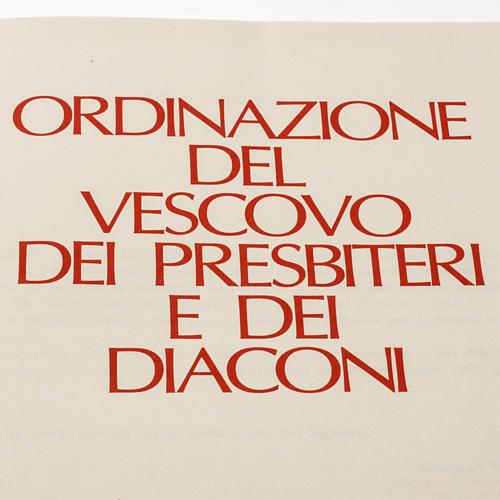 Ordinazione del Vescovo, dei Presbiteri, dei Diaconi 2