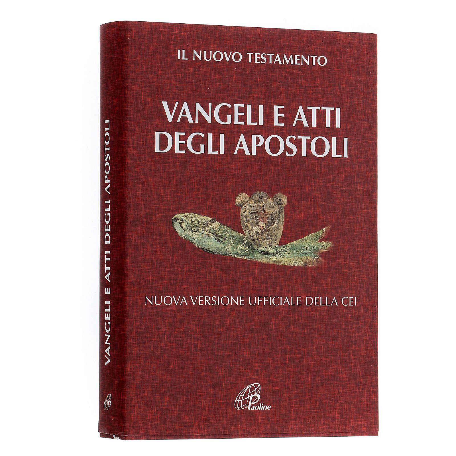 Évangile et Actes des Apôtres,rouge ITALIEN 4