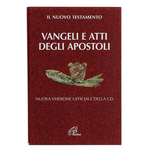 Évangile et Actes des Apôtres,rouge ITALIEN 1