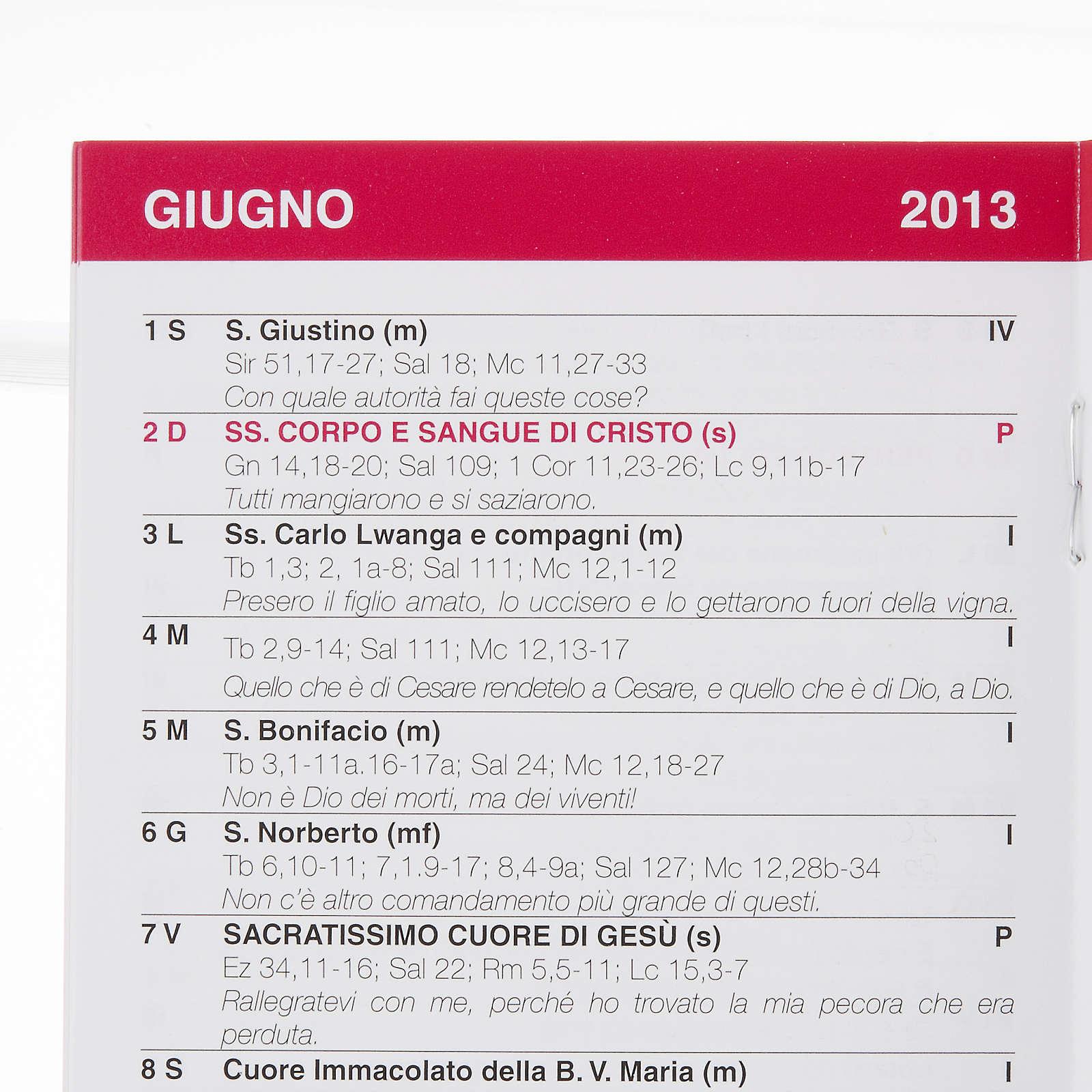 Calendario liturgico 2013 4
