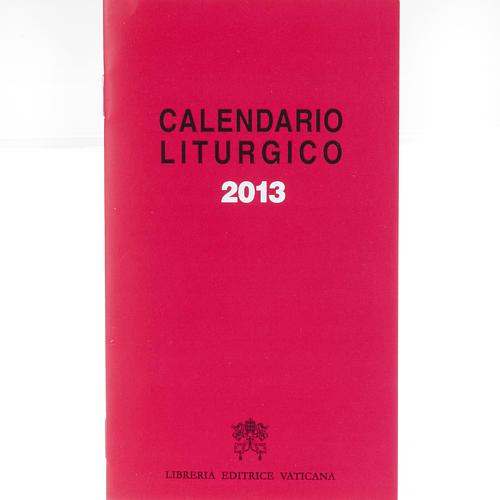 Calendario liturgico 2013 1