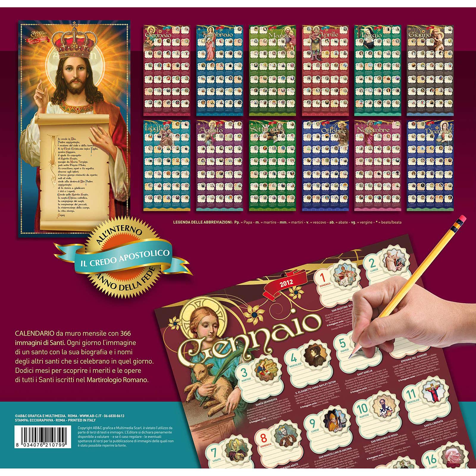 Calendario 2013 Un Anno di Santi 4