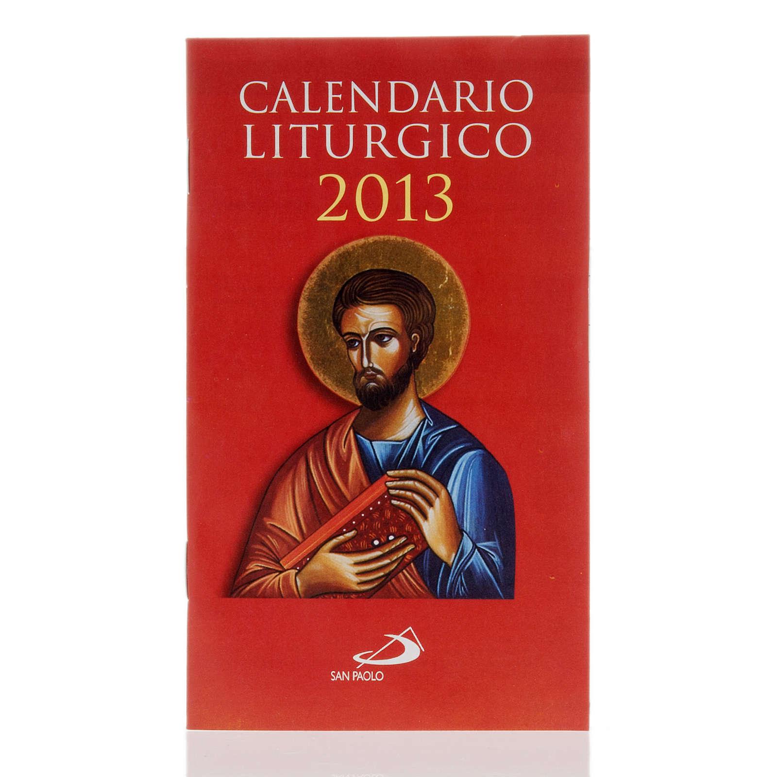Calendario liturgico anno 2013 4