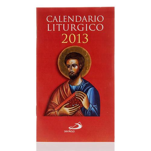 Calendario liturgico anno 2013 1