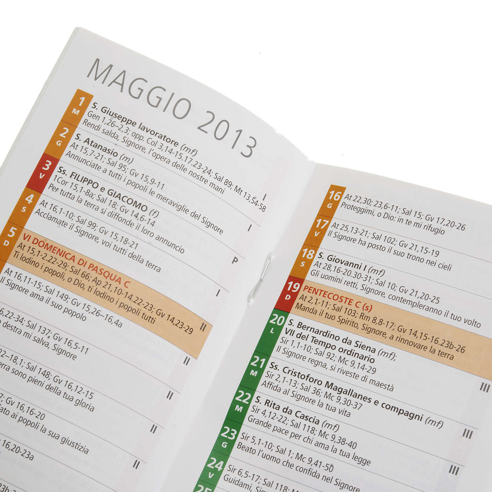 Calendario 2013 Liturgia della Parola 4
