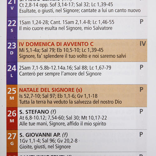 Calendario 2013 Liturgia della Parola 3