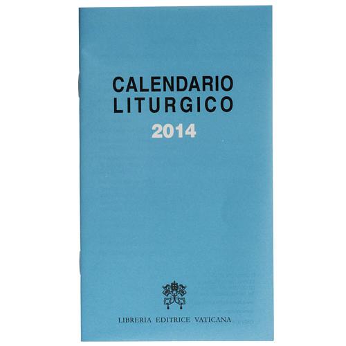 Calendario liturgico 2014 ed. Vaticana 1