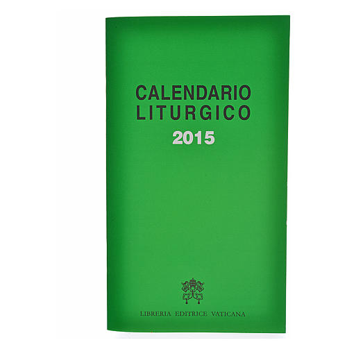 Calendario Liturgico 2015 editrice Vaticana 1