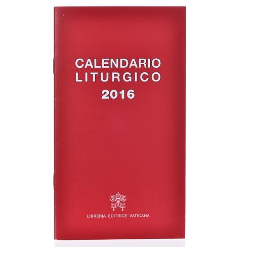 Calendario liturgico 2016 ed. Vaticana 1