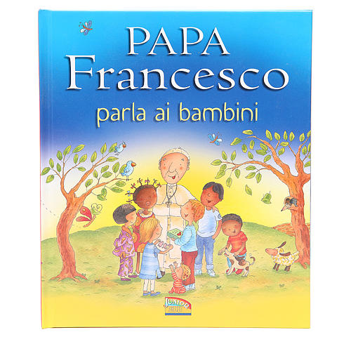 Pope Francis talks to the children 1