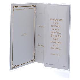 Libretto Prima Comunione FRANCESE con rosario bianco s5