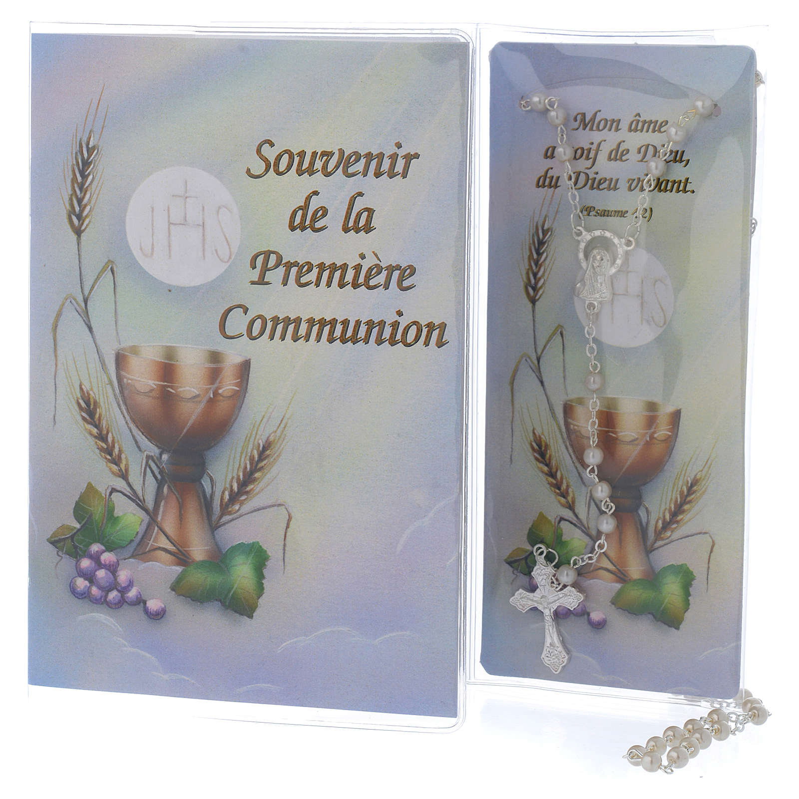 Book First Communion in FRENCH with white rosary 4