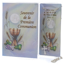 Book First Communion in FRENCH with white rosary s1