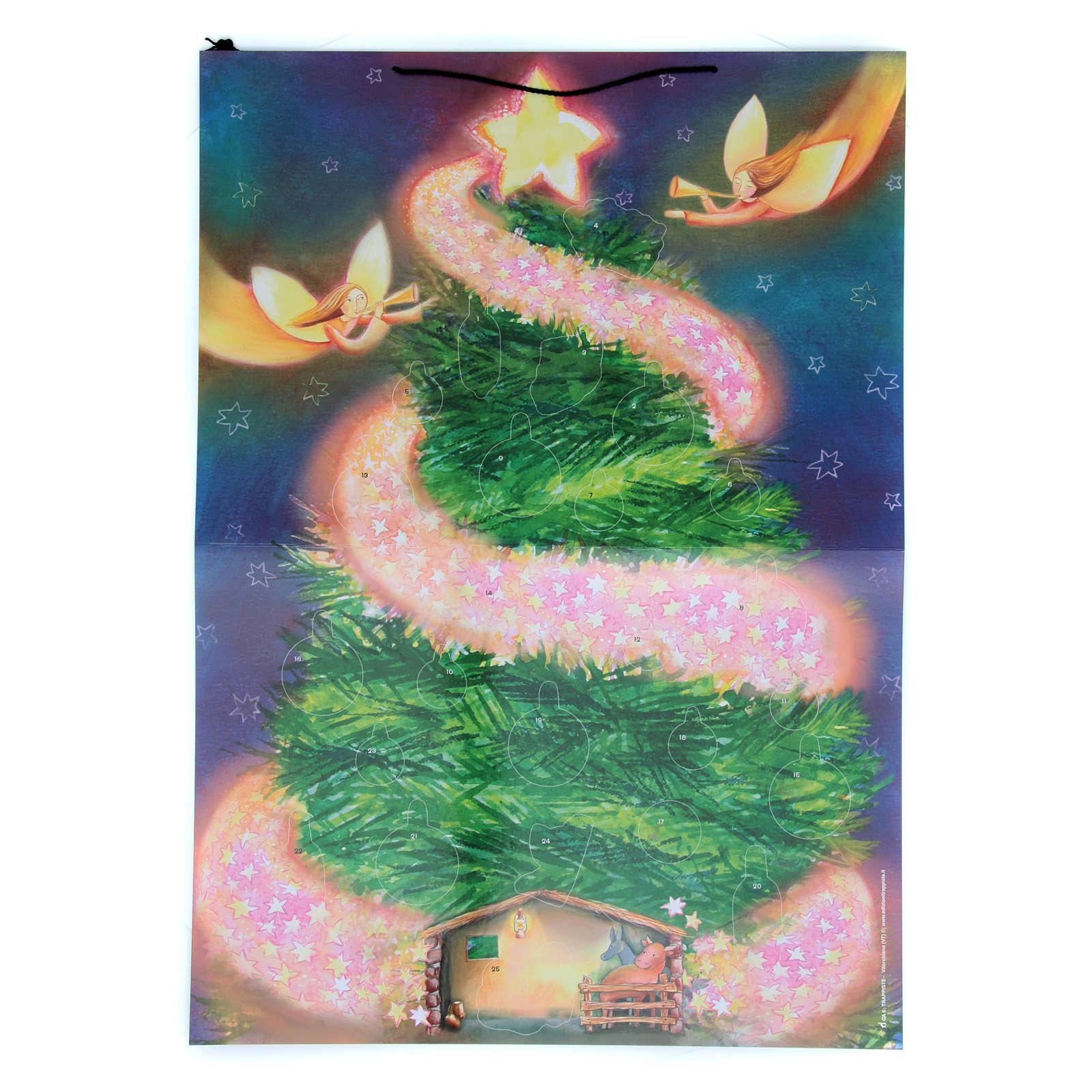 Adventskalender, Weihnachtsbaum-Motiv, mit Aufklebern 4