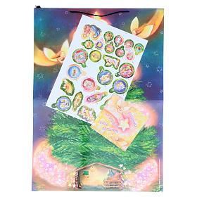 Calendrier Avent Sapin Noël avec stickers s2