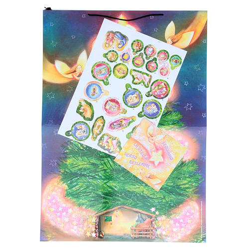 Christmas tree Advent calendar with stickers 2