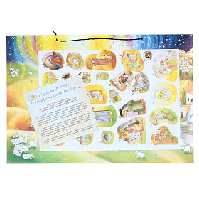 Nativity scene advent calendar with stickers s2