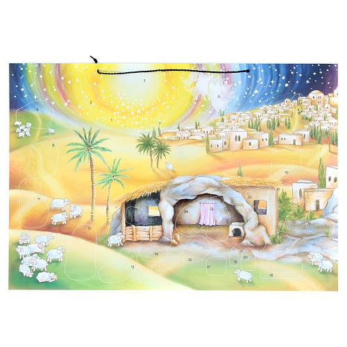 Nativity scene advent calendar with stickers 1