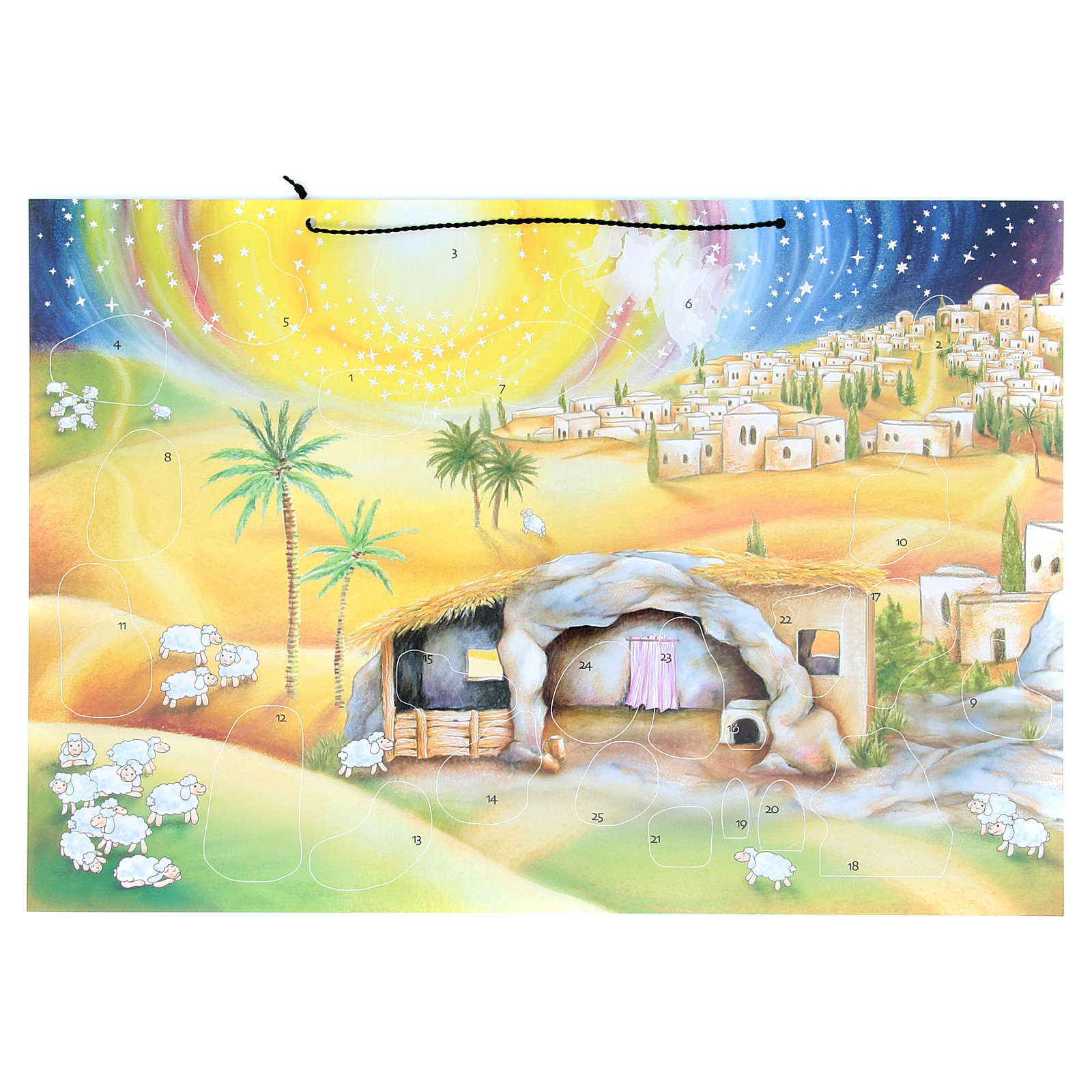 Nativity scene advent calendar with stickers 4