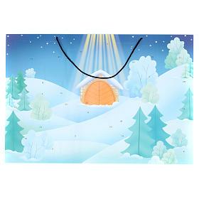 Calendários e Livros Religiosos: Calendário do Advento paisagem com neve
