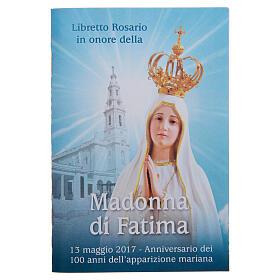 Kalender und andere Bücher: Bűchlein mit Rosenkranz, 100. Jahrestag des Heiligtums unserer Lieben Frau von Fatima