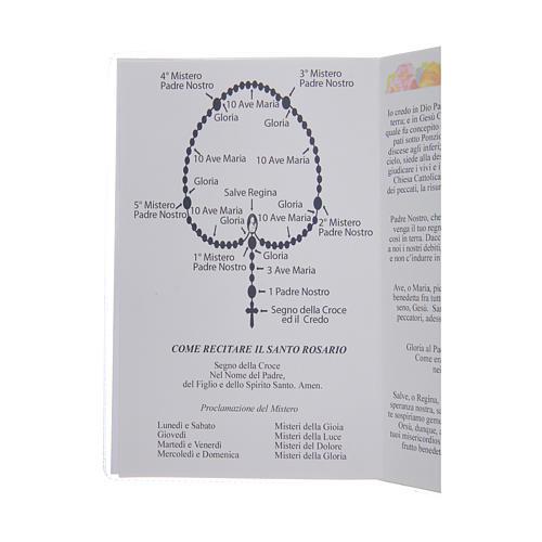 Libretto Il santo Rosario in lingua italiana 3